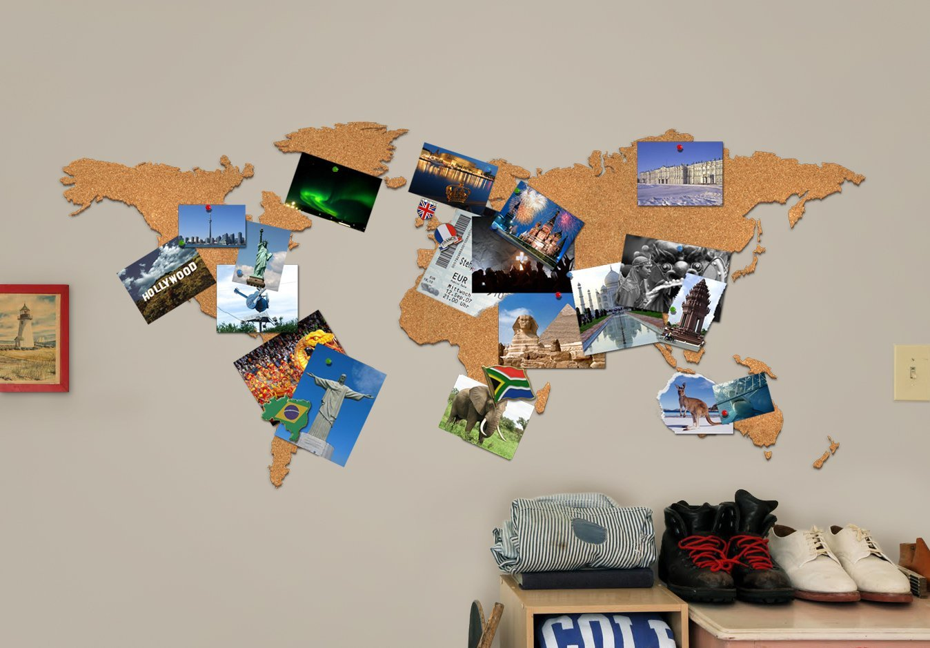 Cork board adhesive world map travel candi candis travel shop gumiabroncs Choice Image