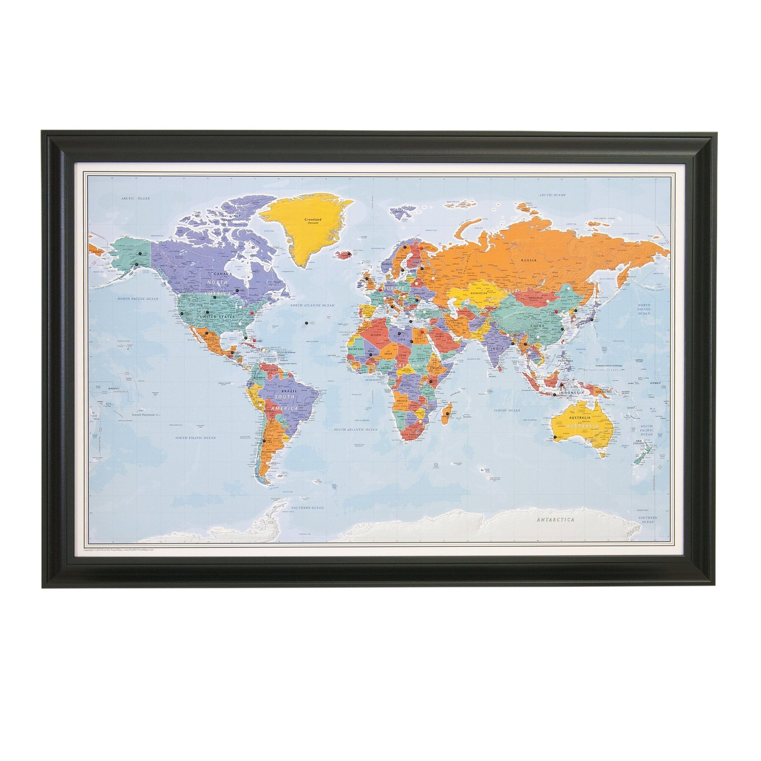 push pin world map and frame travel candi. Black Bedroom Furniture Sets. Home Design Ideas