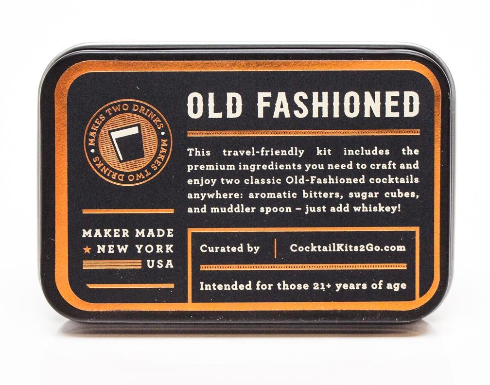 Cocktail Kit Old Fashioned Travel Candi